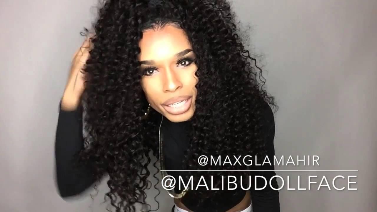 Malibu Dollface Half-up-half-down Hairstyles Maxglam Deep