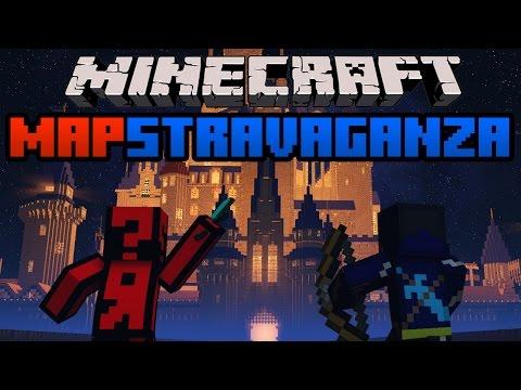 Minecraft Mapstravaganza! Epic Frozen Battle, Superhero City Fight and Intense Parkour Islands!