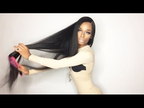 "West Kiss Hair  Aliexpress  Brazilian Straight 40"" Review"