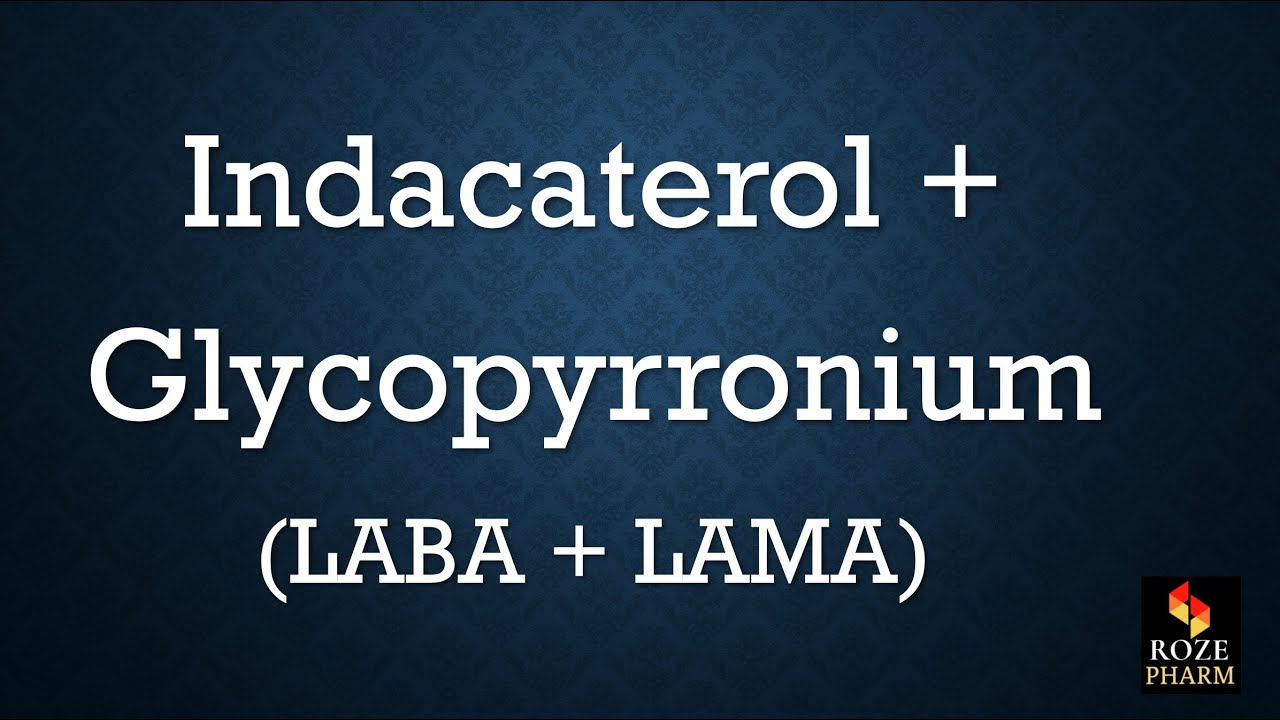 Indacaterol Glycopyrronium pronunciation, How to say Ultibro   YouTube