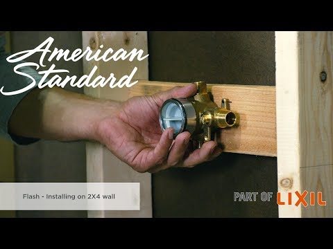 Installing The Flash Shower Rough-in Valve On A 2x4 Wall With Jonathan Cheever