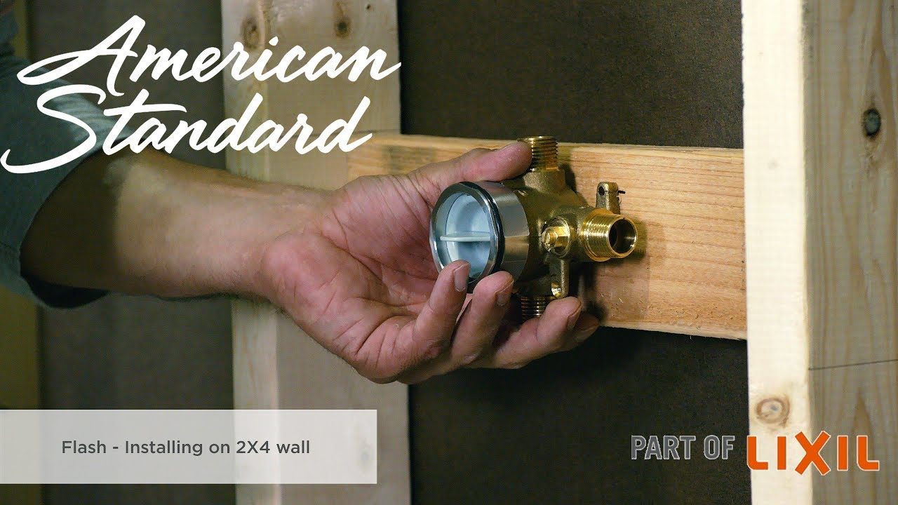 Installing The Flash Shower Rough In Valve On A 2x4 Wall