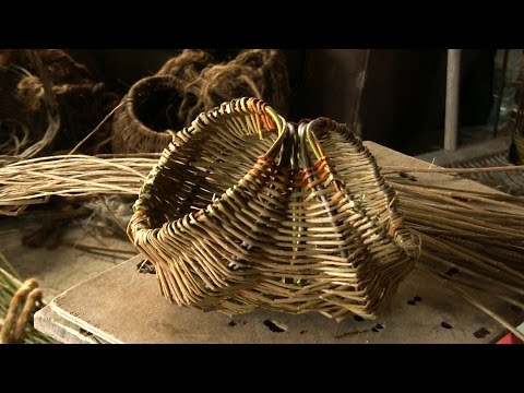 Willow Weaving   Tutorial How To Weave A Willow Easter Egg Basket