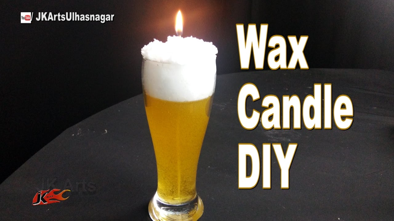 DIY Beer Glass candle  How to Make Gel Candle  Gift Idea  JK