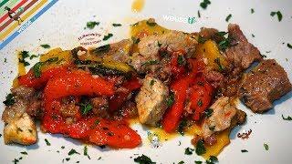 290 - Stufato di maiale con peperoni...è finito in du' bocconi! (secondo piatto di carne facile)