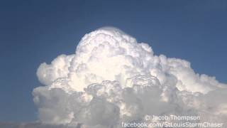 3/27/14 Supercell Updraft Timelapse w/ Pileus Cloud - Walker, MO