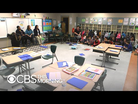 Here's what an active shooter drill for 4th graders looks like