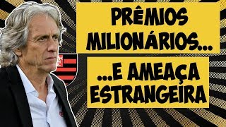 Títulos podem dobrar salário de Jorge Jesus... mas time gringo é ameaça ao Flamengo