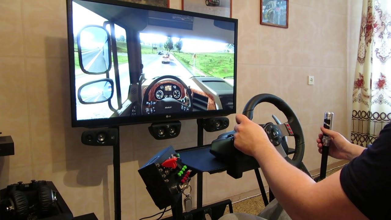 Euro Truck Simulator 2 Logitech G27 Homemade Cocpit Doovi
