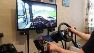 Euro truck simulator 2/Logitech G27,homemade cocpit