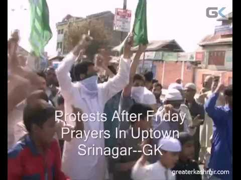 Protests After Friday Prayers In Uptown Srinagar
