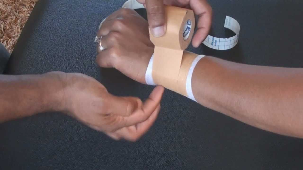 taping to stabilise your painful wrist