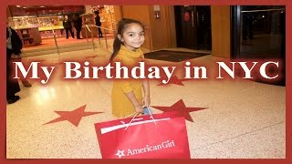 Birthday at the American Girl Doll Store
