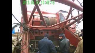 замена каната на кране скг-63/100 1(замена стального каната главного подъёма крана скг-63/100 диаметр 31 мм. длина 255 метров., 2013-04-04T17:09:41.000Z)