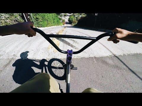 BMX vs SKATE HILL BOMB - HIGH SPEED *NO BRAKES*