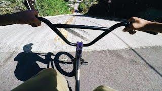 BMX vs SKATE HILL BOMB - HIGH SPEED NO BRAKES