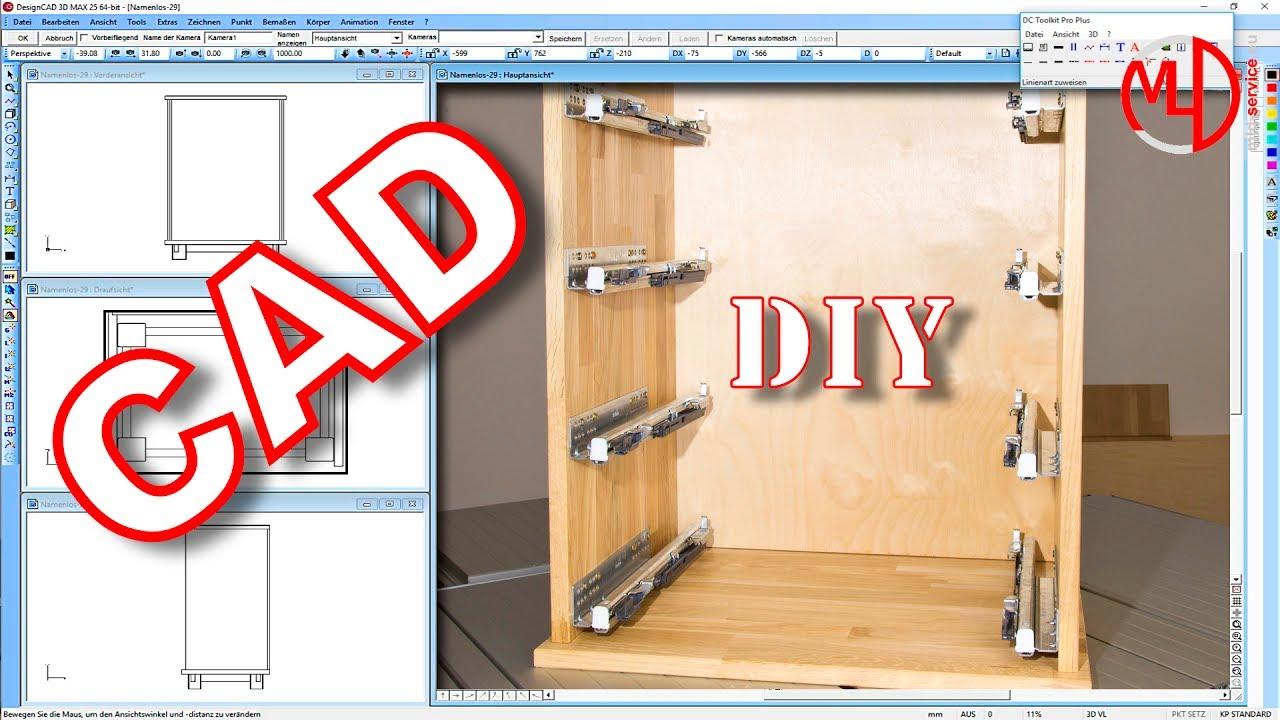 schrank aus holz selber bauen mit designcad 3d max v25 tutorial 3d cad m bel selber bauen diy. Black Bedroom Furniture Sets. Home Design Ideas