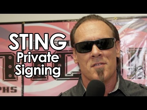 Pro Wrestling Icon Sting Signing for American Icon Autographs July 27, 2014