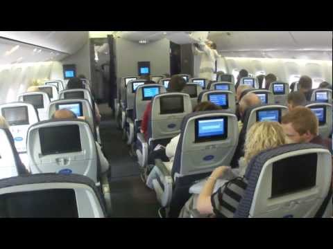 Inside United Boeing 767-400 (flight Amsterdam - Houston)