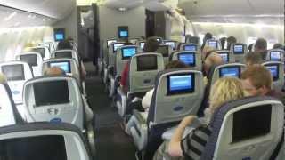 Inside United Boeing 767-400 (flight Amsterdam - Houston)