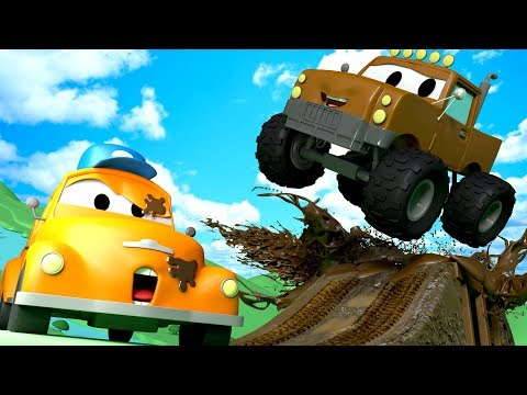 Tom the Tow Truck's Car Wash and Marley the Monster Truck | Cars cartoons for kids