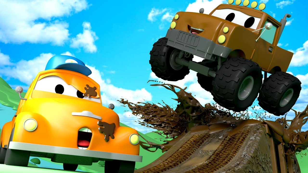 Tom The Tow Truck S Car Wash And Marley The Monster Truck Cars
