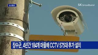 장수군, 4년간 184개 마을에 CCTV 575대 추가…