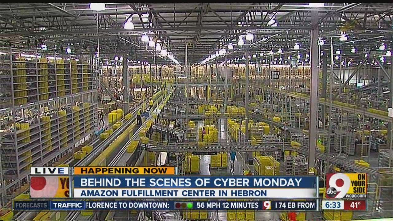 amazon com fulfillment center in hebron ready for cyber monday youtube