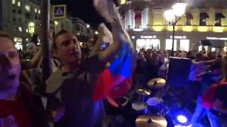 Москва не спит победа над Египтом . Баба - Бомба . FIFA 2018
