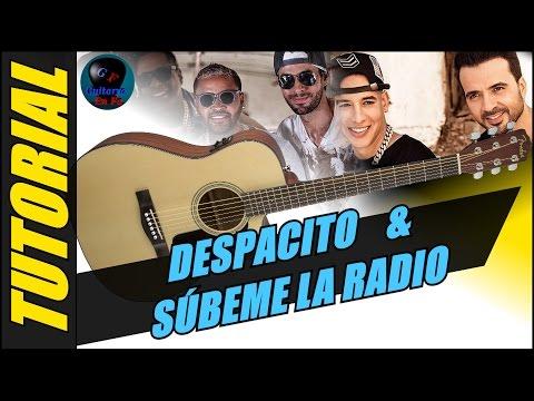 Cómo tocar Despacito & Súbeme la Radio en guitarra con los mismos acordes - (TUTORIAL)
