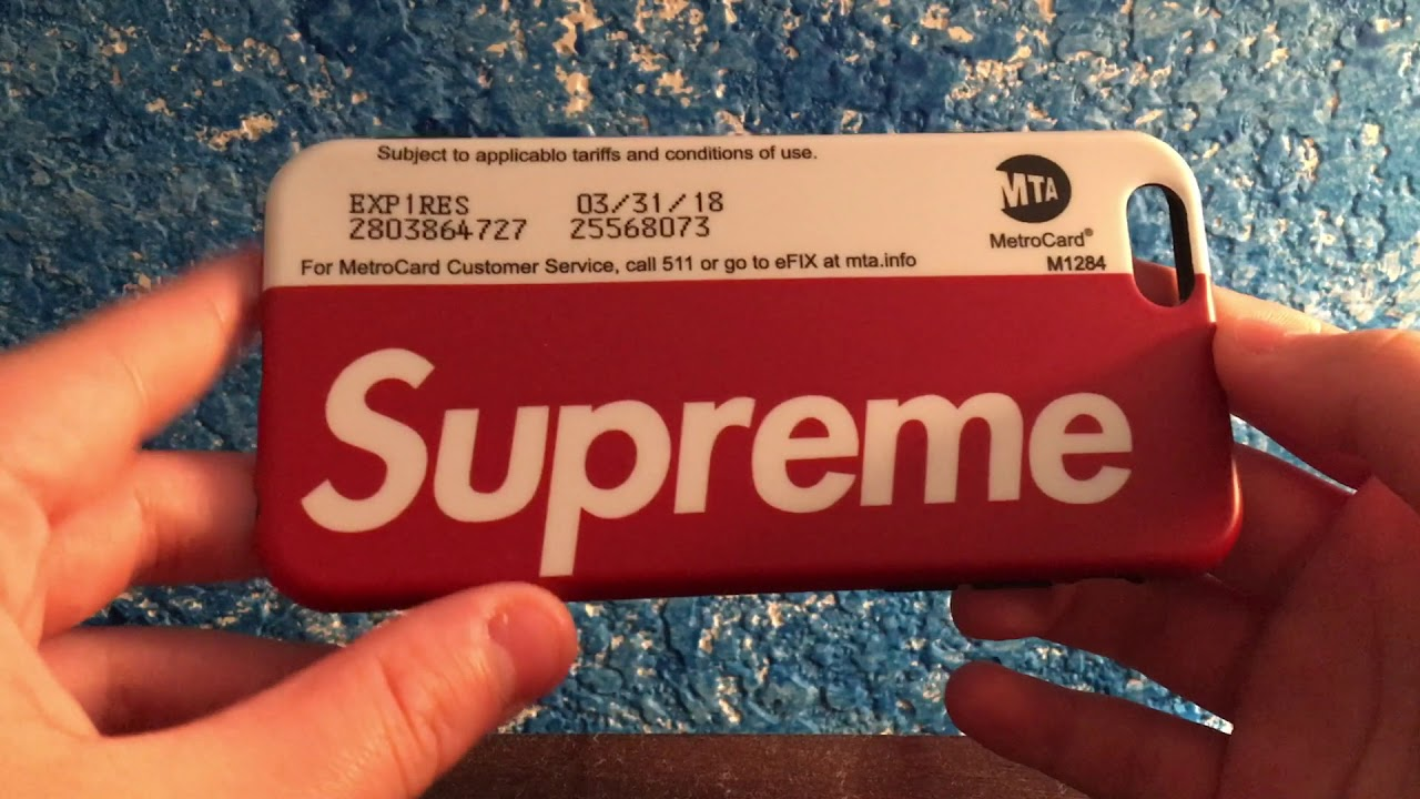 Street Fashion NYC Metrocard  Supreme Case  *Review* - YouTube