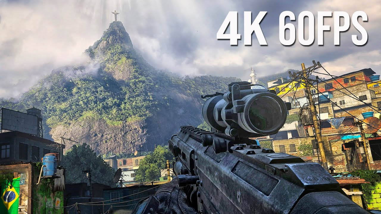 Call of Duty Modern Warfare 2 REMASTERIZADO  - FAVELA NO RIO DE JANEIRO em 4K 60fps