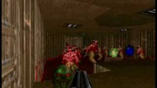 Doom 2 - Cyberdemon vs Barons of hell