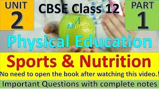 Physical Education | Unit - 2 | Sports an Nutrition | Complete Notes