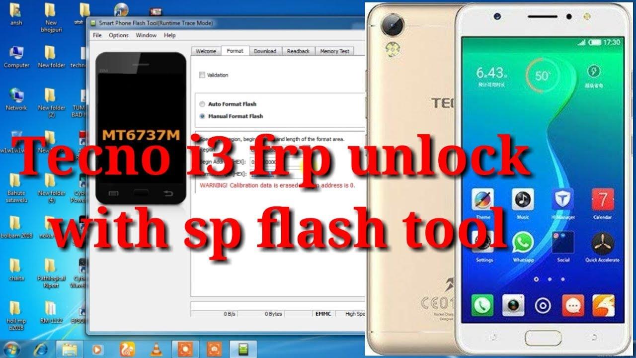 Tecno i3 frp unlock with sp flash tool