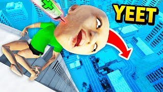 Making Stuff HUGE And Throwing It Off The TALLEST BUILDING EVE…