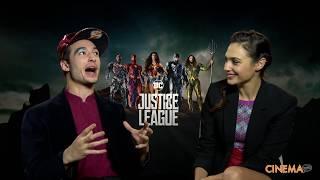 "Ezra Miller & Gal Gadot, The Flash and Wonder Woman ""Justice League"""