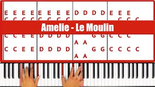 ♫ ORIGINAL - How To Play Le Moulin Amelie (Yann Tiersen) Piano Tutorial Lesson - PGN Piano