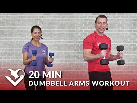 20 Minute Dumbbell Arms Workout at Home for Women & Men Biceps Triceps Arm Workout with Dumbbells