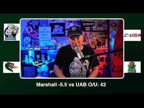Marshall vs UAB 12/18/20 Free College Football Picks and Predictions CFB Tips