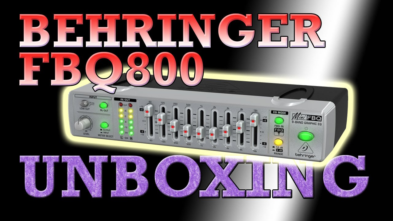 Behringer MiniFBQ FBQ800 9 Band Graphic Equalizer with Feedback Detection  Unboxing & Quick Review