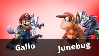 WTT2 - Gallo (Mario / Wolf) vs Junebug (Diddy / Wolf) - Project M
