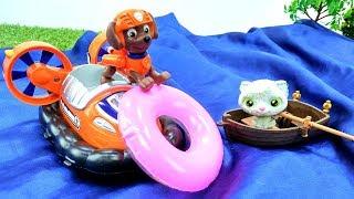 Мультфильм Щенячий Патруль - Про котенка в лодке и рыбку в море