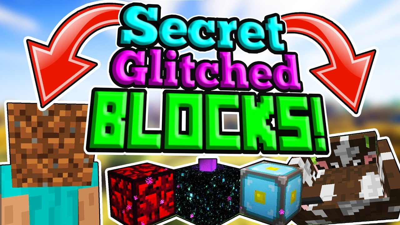 Secret Blocks In Minecraft Pe Incredible New Blocks Youtube