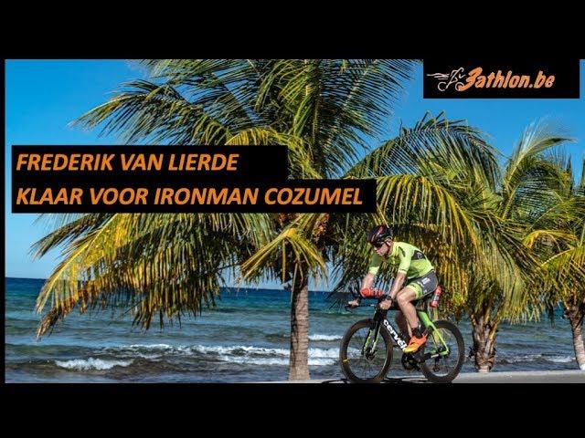 Frederik klaar voor de Ironman in Cozumel