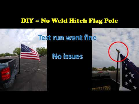 DIY Hitch Flag Pole