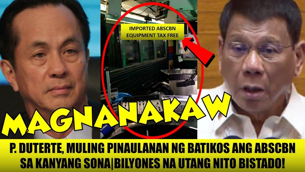 """LAGOT! President Duterte NAGLABAS ng PANIBAGONG EBIDENSYA ng PAGNANAKAW ng ABSCBN  """"MAGBABAYAD KA!!"""""""