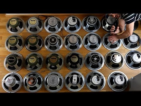 27 Celestion Guitar Speakers Comparison - Shootout
