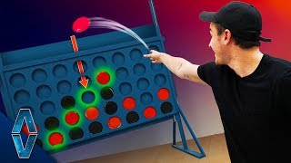 Playing GIANT Connect 4 With Frisbees!