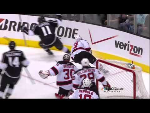 Anze Kopitar goal. New Jersey Devils vs LA Kings Stanley Cup Game 3 6/4/12 NHL Hockey